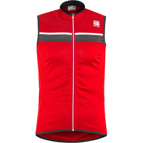 Sportful Pista Sleeveless Jersey Herren red/anthracite/white
